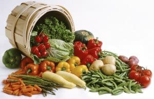 Vegetables top the list of alkaline Foods