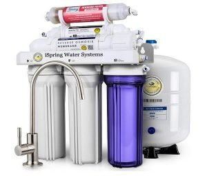 0iSpring 6-Stage Under Sink Reverse Osmosis Drinking Water Filter System with Alkaline Remineralization