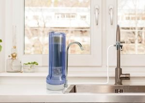 Apex Countertop Water Filter Installed in a kitchen