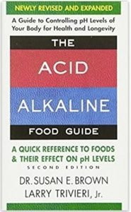 The front cover of the Acid Alkaline Food Guide by Dr Susan E. Brown