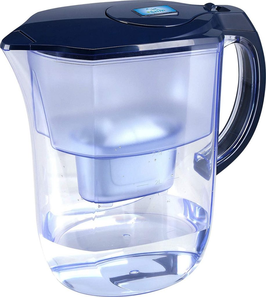 EHM Alkaline Water Filter Pitcher side view