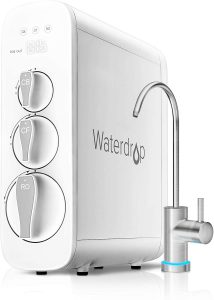 Waterdrop reverse osmosis system and faucet in white