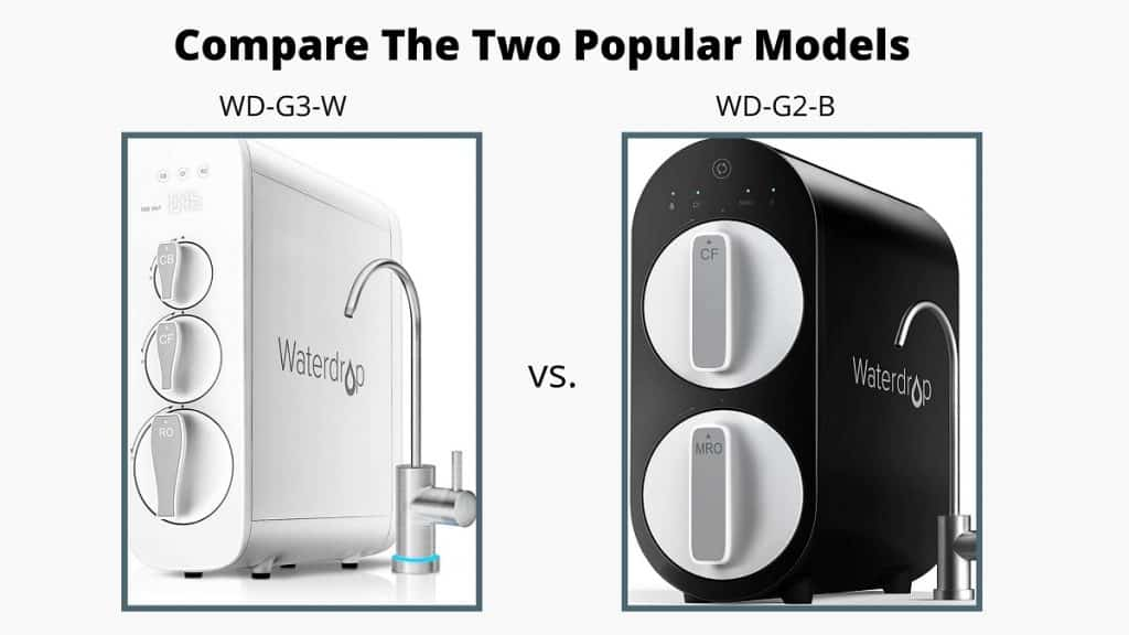 comparison of waterdrop ro systems G2 vs G3